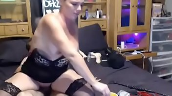 Cigarette Stockings MILF Blowjob
