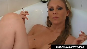 Cigarette Blonde Pornstar MILF Wet