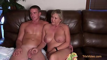 Interview Hardcore Blonde MILF Blowjob