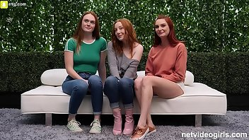 Audition Doggystyle Amateur Redhead Foursome