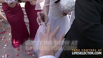 Bride Facial Blowjob Brunette Foursome