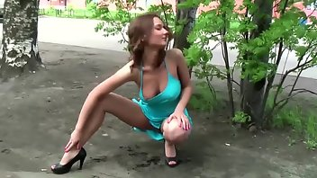 Boots Pussy Boobs Outdoor